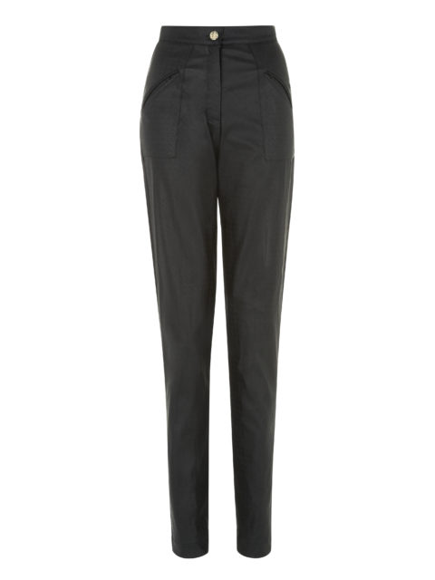black-textured-leather-trousers